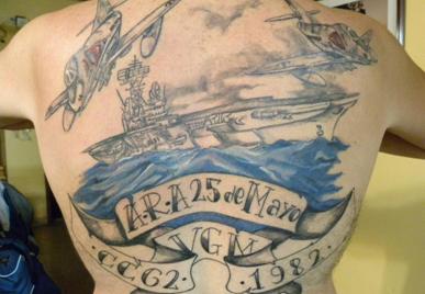 Tatuajes malvineros: las Malvinas grabadas en la piel
