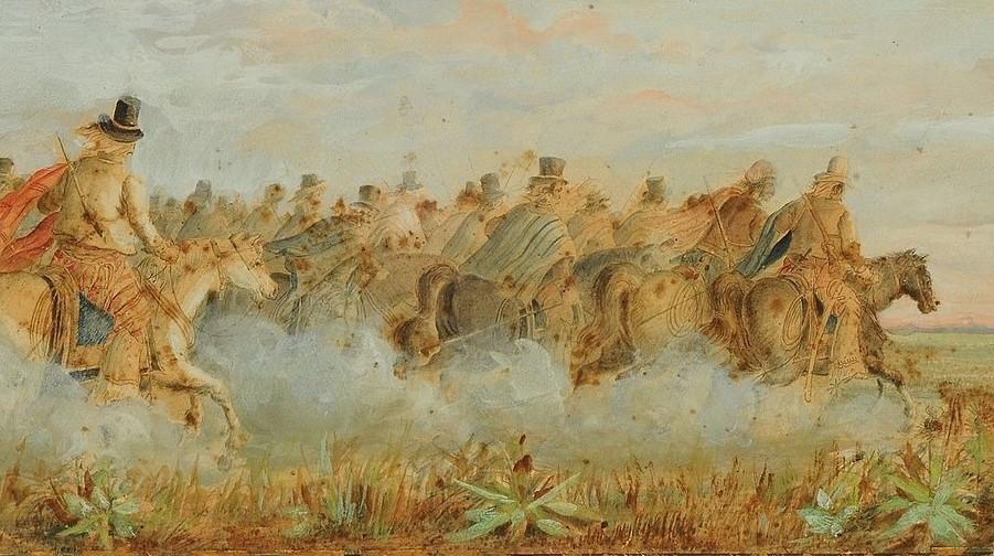 Los Infernales de Güemes en el libro La Guerra Gaucha de Leopoldo Lugones (1905).